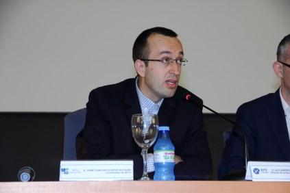 D. José Carlos Clavijo (APTA-Málaga) durante la presentación.