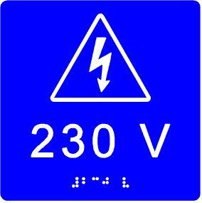plăcuță tactilă indicare voltaj