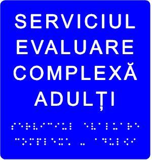 plăcuță tactilă indicare serviciu 4 cuvinte