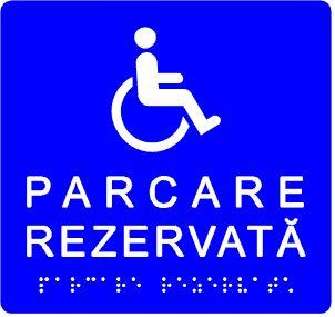 plăcuță tactilă indicator parcare rezervată