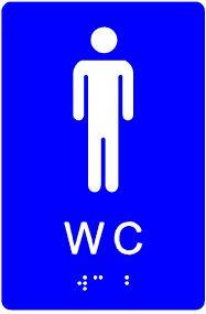 plăcuță tactilă indicator WC bărbați