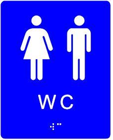 plăcuță tactilă indicator WC