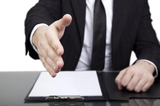 Employer Offering Handshake after Psychometric Test