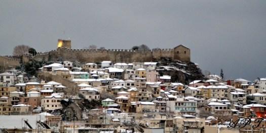 Το χιονισμένο κάστρο της Καβάλας