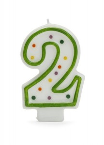 2nd Birthday Candle