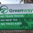 Santa Cruz Greenway Lawn Sign