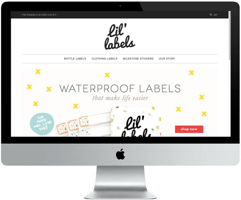 Web design portfolio | Lil Labels Website | Aptus Creative Marketing