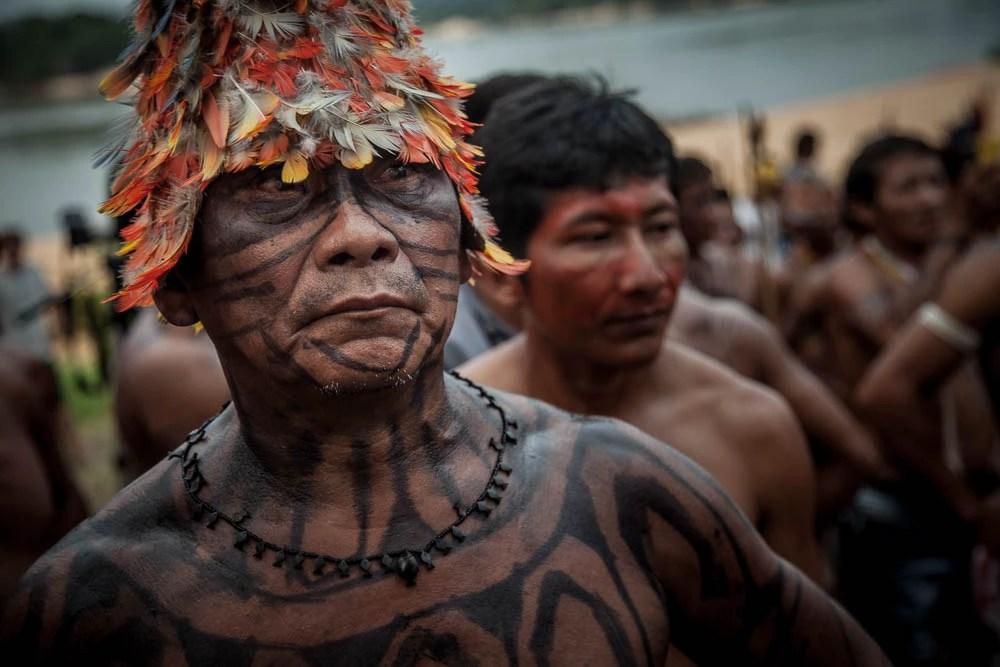 Caciques e guerreiros se uniram para resistir às usinas. Foto: Marcio Isensee e Sá