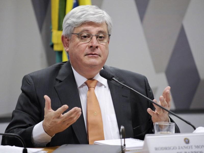 O procurador-geral da República, Rodrigo Janot, em sabatina na Comissão de Constituição, Justiça e Cidadania (CCJ) do Senado.