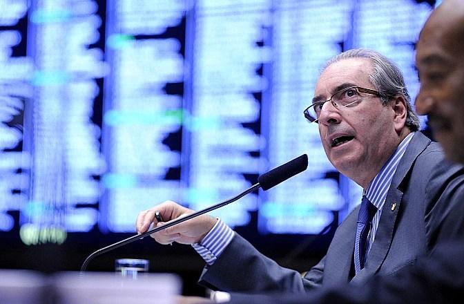 O deputado Eduardo Cunha (PMDB-RJ), presidente da Câmara, participa de sessão no dia 23 de março
