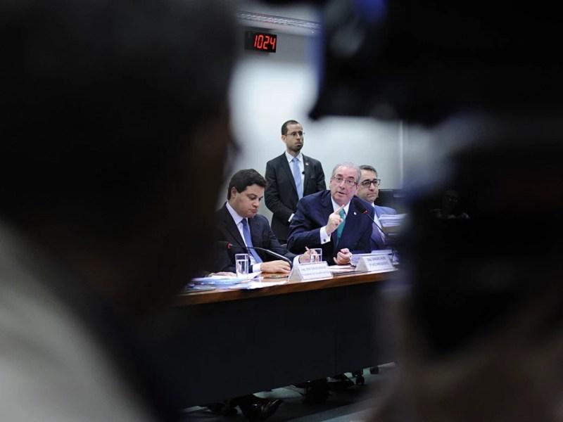 O deputado Eduardo Cunha (PMDB-RJ) presta depoimento no Conselho de Ética