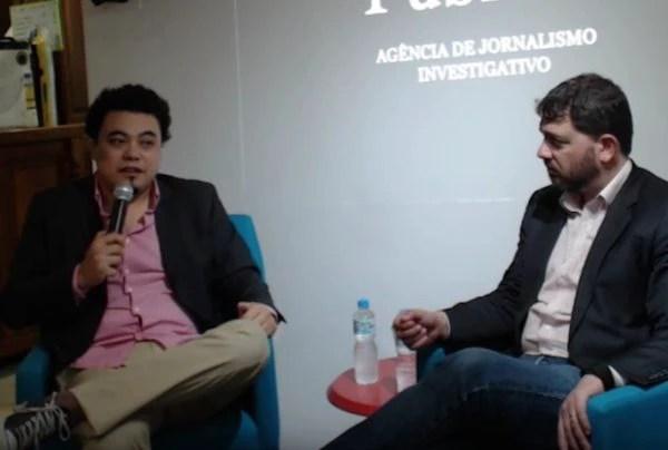 """Leonardo Sakamoto e Pedro Doria debateram, durante duas horas, o tema """"intolerância na rede"""", do qual muitas vezes são vítimas"""