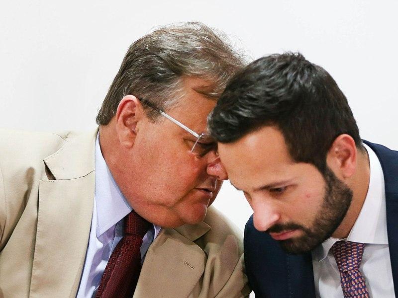 Geddel Vieira Lima e Marcelo Calero, conversam quando ainda estavam no governo sobre a Rio 2016