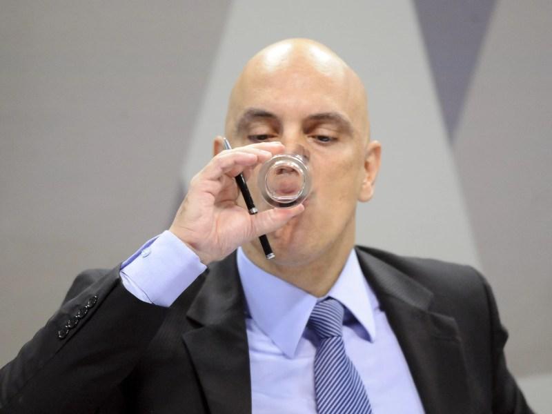 O ministro da Justiça licenciado, Alexandre de Moraes, em sabatina no Senado