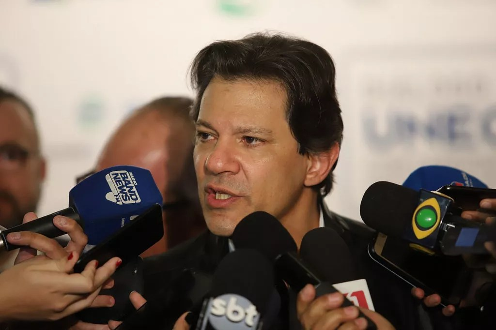 Fernando Haddad (PT) participa de evento da Unecs, em agosto: anos finais do governo Dilma registraram déficit