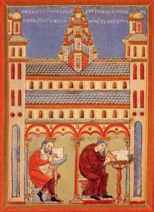 Schrijvers in abdij 1020