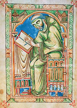 monnik schrijvend 1150