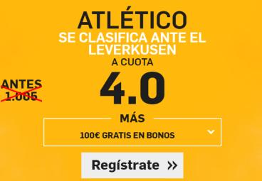 Supercuota Betfair Atletico Leverkusen