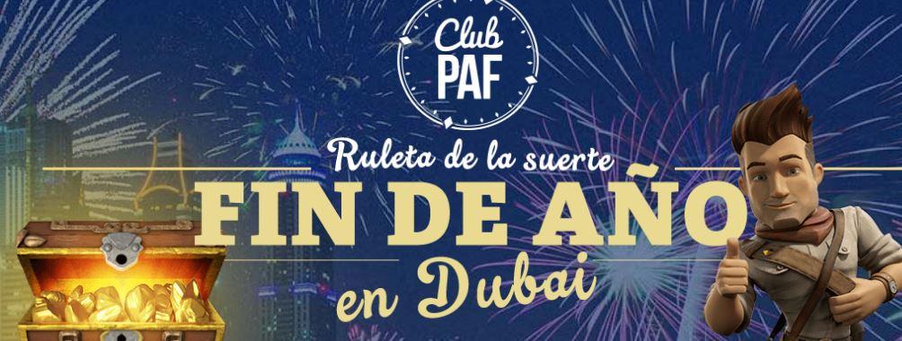 Premios diarios con la ruleta de PafEntre los premios un viaje a Dubai para dos personas
