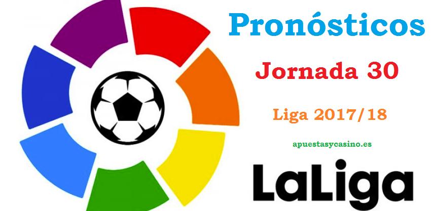 Pronósticos jornada 30 Liga 2018