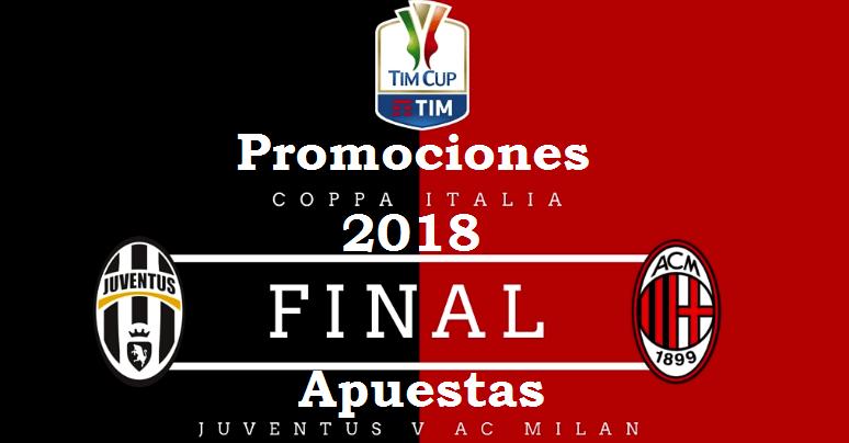 Promociones Juventus-Milán: final Copa Italia 2018