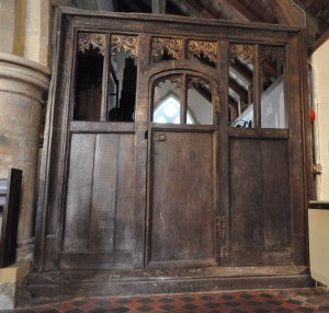 15th Century Oak Screen