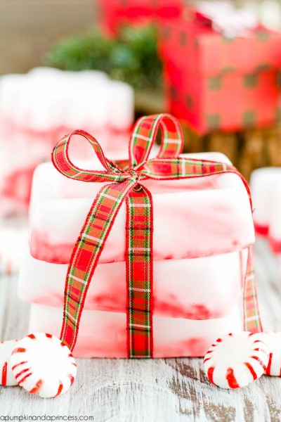 Alternative Gift Ideas for Christmas Homemade Soap DIY Peppermint Soap Ribbon Mints Gifts