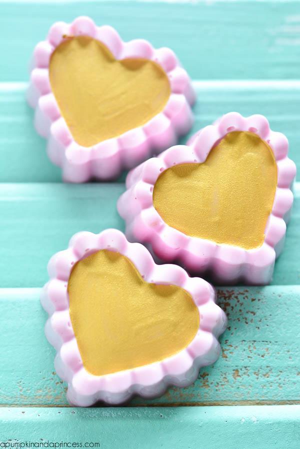 DIY Gold Simmer Soap