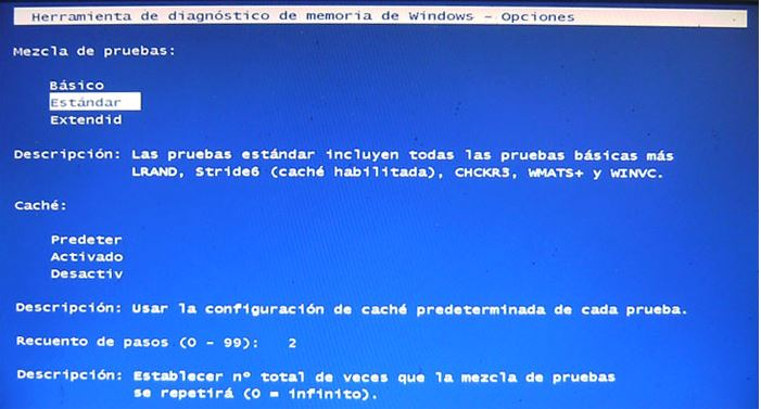 Diagnóstico de memoria de Windows 2