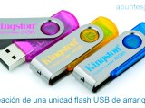 Creación de una unidad flash USB de arranque