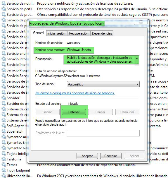 Actualizaciones de windows_propiedades