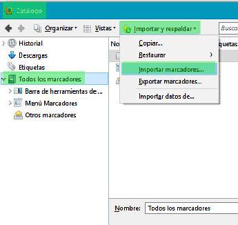 exportar tus marcadores de Google Chrome_