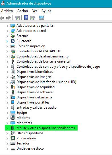 Mouse y otros dispositivos señaladores