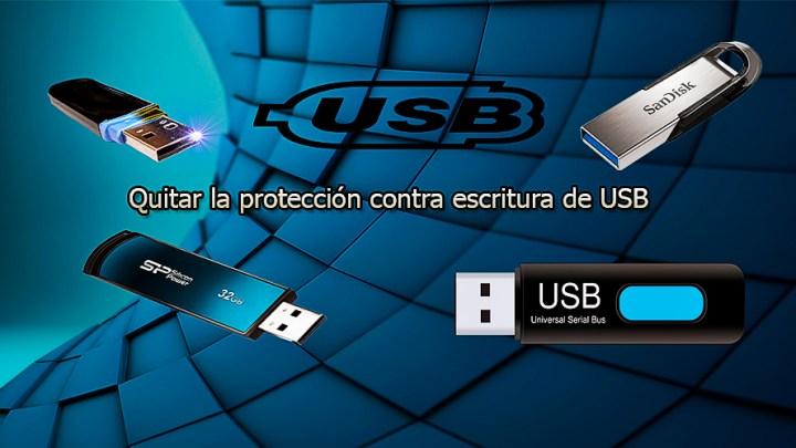 Como quitar la protección contra escritura en un USB