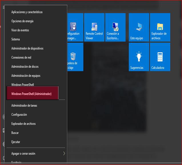 Windows PowerShell (Administrador)