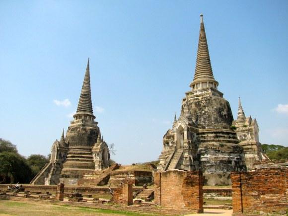 Chedis de Wat Phra Si Sanphet
