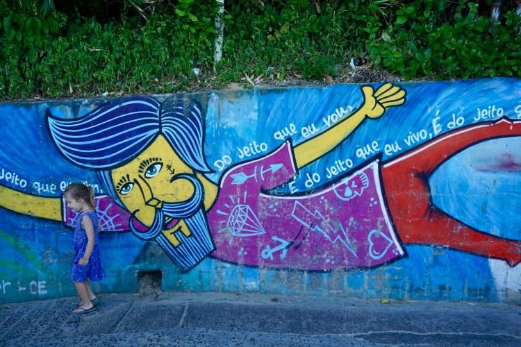 Mural en Morro de Sao Paulo