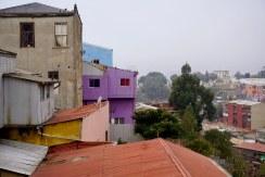 Vista a los cerros Alegre y Panteón desde el hotel