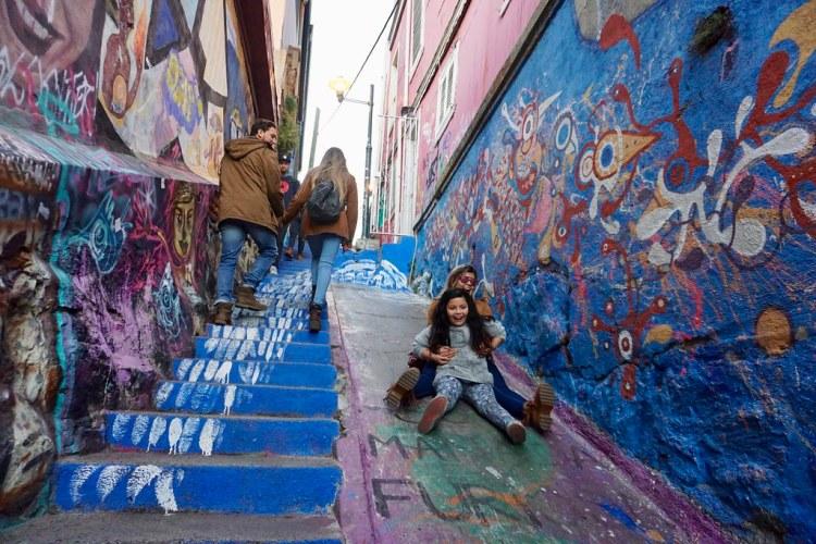 Escalera Templeman en el cerro Alegre