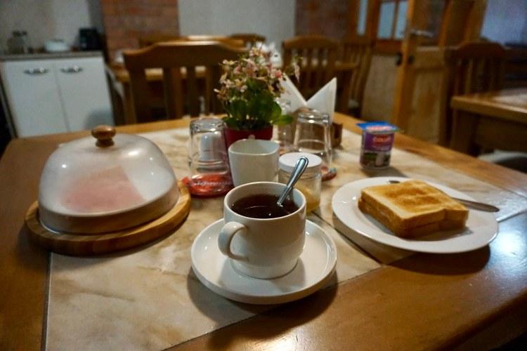Desayuno en Hostal Balmaceda