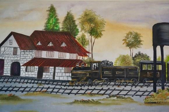 Pintura de la Casa Estación Quintero