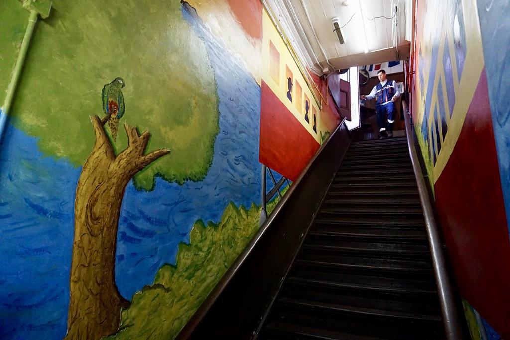 Escalera de acceso a Puerto Mil-Nay