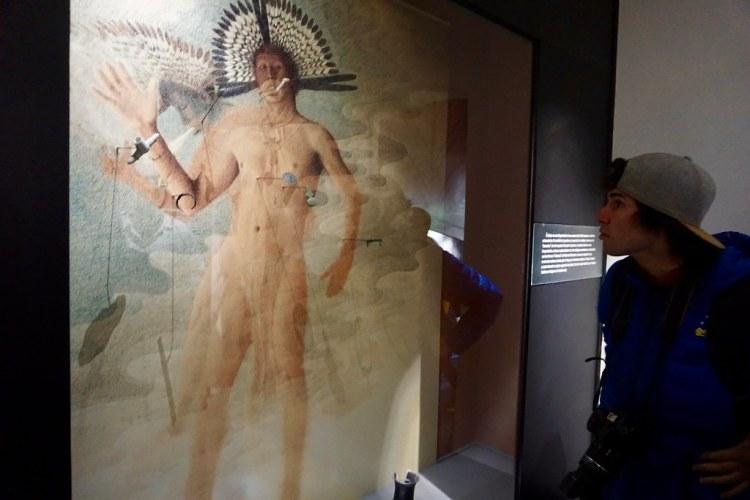 Representación de un chamán en el Museo del Limarí