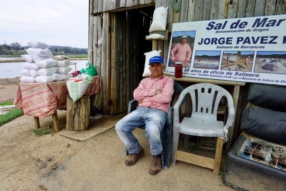 Jorge Pavez, salinero de Barrancas y Tesoro Humano Vivo
