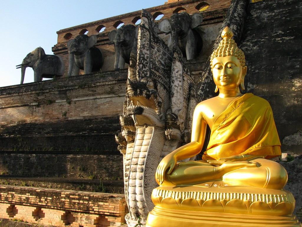 Buda en Wat Chedi Luang