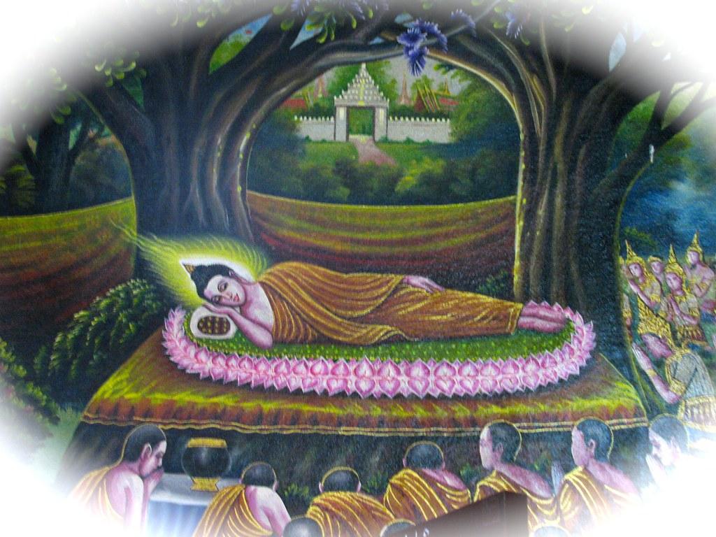 Pintura de Buda en Wat Chiang Man