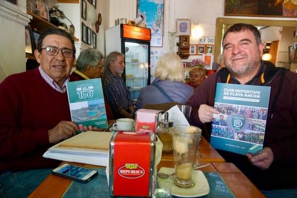 José Echeverría y Martín López en el Café República