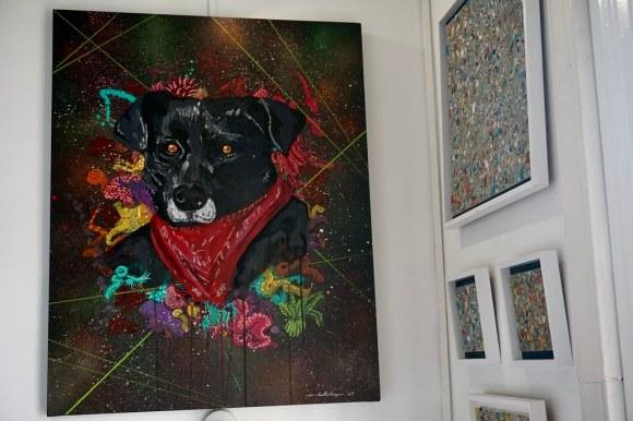 Cuelli Mangui en Galería Espacio Rojo, cerro Alegre