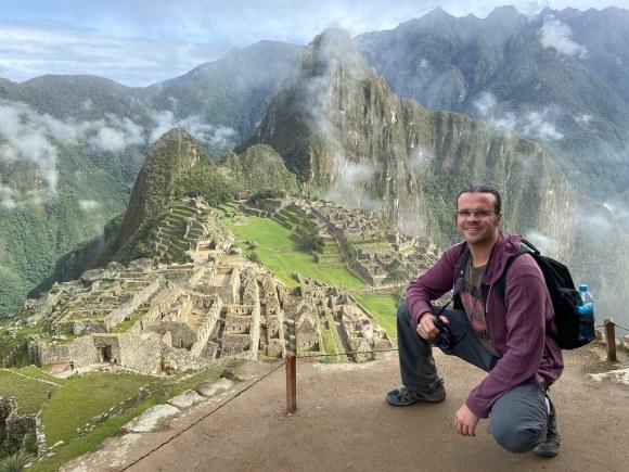 La clásica postal de Machu Picchu, imposible no sonreír