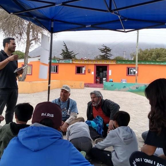 Actividad comunitaria en Caleta Los Hornos